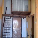 Ringhiera e scala in legno